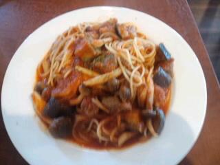 牛肉と茄子のスパゲティ
