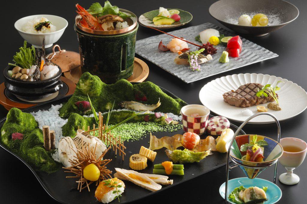 豪華 盆景料理と神戸牛A5ランクシャトーブリアン会席